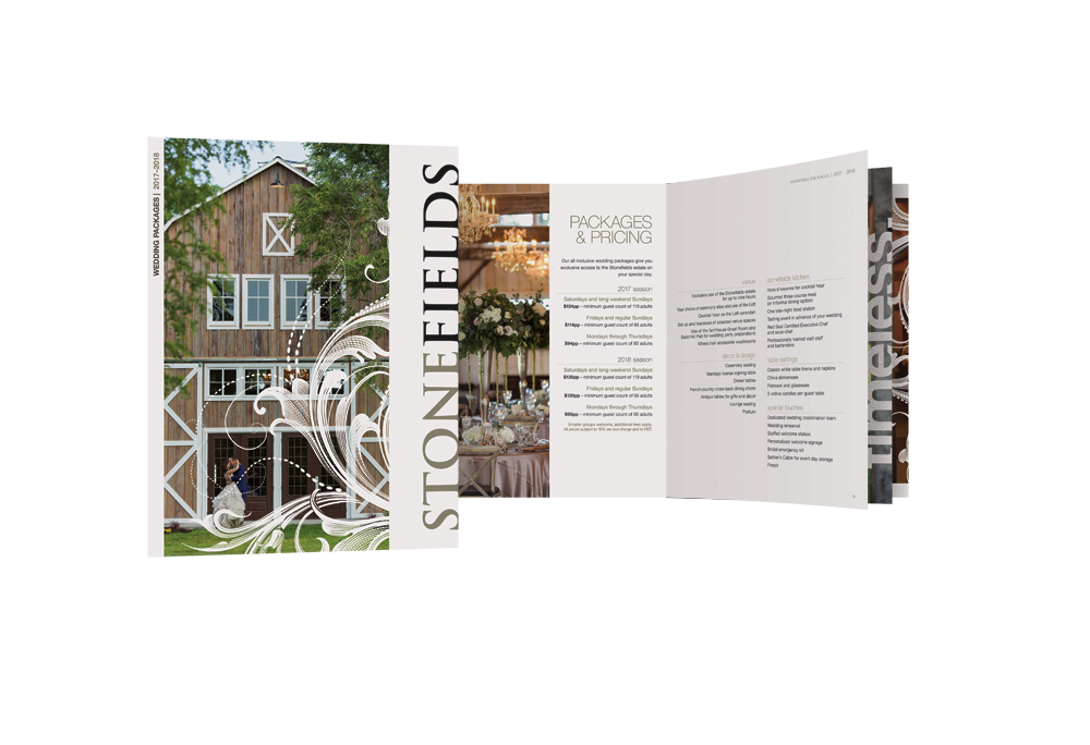Stonefields Wedding Packages Brochure