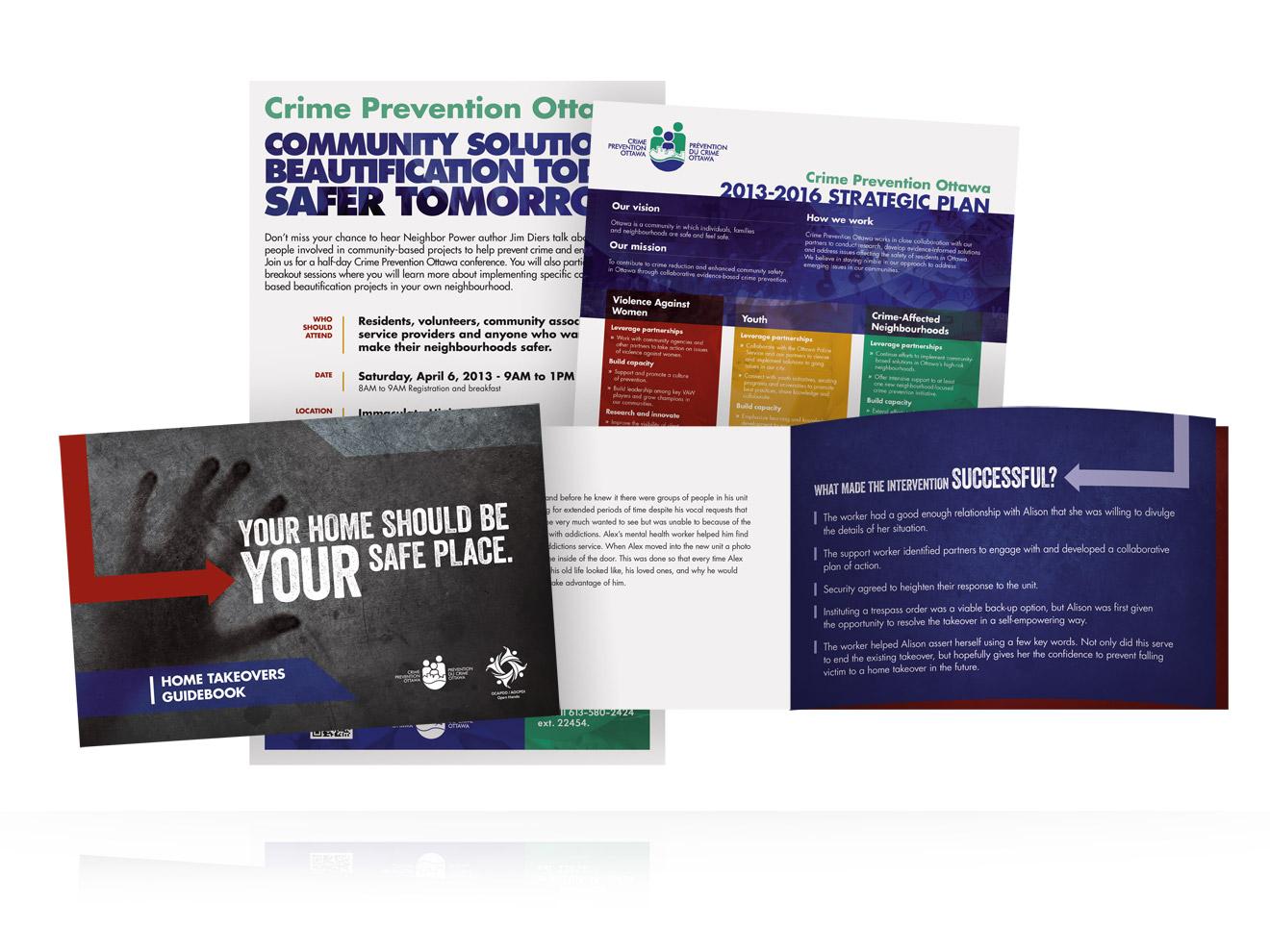 Xquisit - Crime Prevention Ottawa Print Collateral